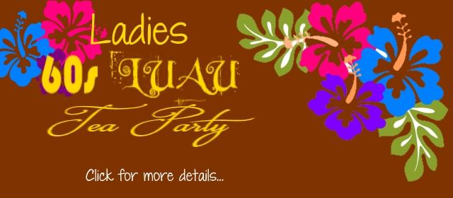 Ladies 60s Luau Tea Party
